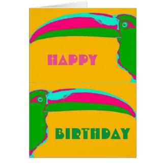 Toucan Pop Art Birthday Card