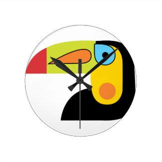 Toucan Round Clock
