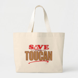 Toucan Save Large Tote Bag