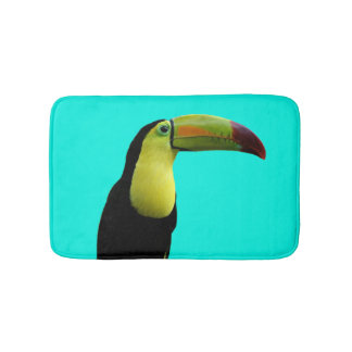 Toucan tropical animal summer paradise photo bath mats