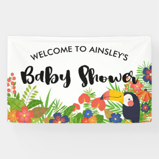 Toucan Tropical Baby Shower Banner
