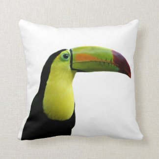 Toucan tropical exotic photo animal throw pillow