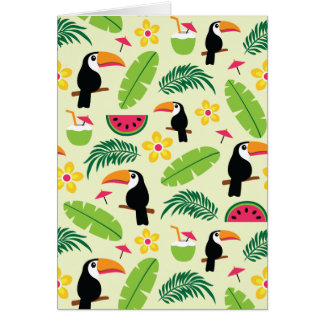 Toucan Tropical Summer Pattern Card