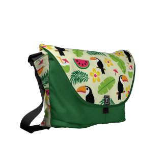 Toucan Tropical Summer Pattern Courier Bag