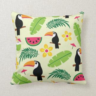 Toucan Tropical Summer Pattern Cushion