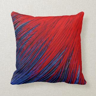 Toucanet Feather Abstract Throw Pillow