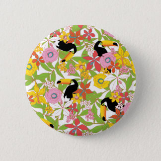 toucans 6 cm round badge