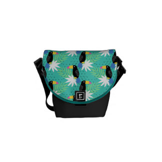 Toucans On Teal Commuter Bag