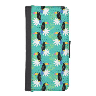 Toucans On Teal iPhone SE/5/5s Wallet Case