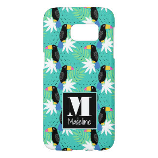 Toucans On Teal | Monogram