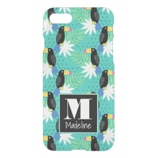 Toucans On Teal | Monogram iPhone 8/7 Case