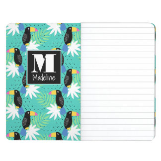 Toucans On Teal | Monogram Journal