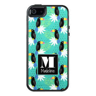 Toucans On Teal | Monogram OtterBox iPhone 5/5s/SE Case