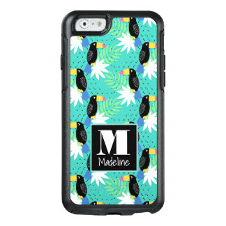 Toucans On Teal | Monogram OtterBox iPhone 6/6s Case
