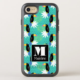 Toucans On Teal | Monogram OtterBox Symmetry iPhone 8/7 Case