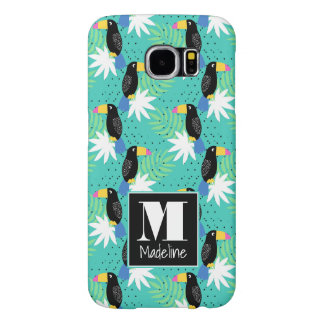 Toucans On Teal | Monogram Samsung Galaxy S6 Cases