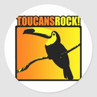 Toucans Rock! Classic Round Sticker