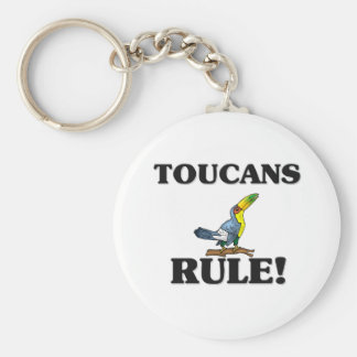 TOUCANS Rule! Basic Round Button Key Ring