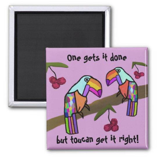 Toucans Teamwork Magnet