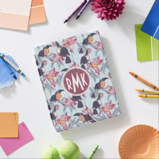 Toucans With Exotic Flowers | Monogram iPad Cover