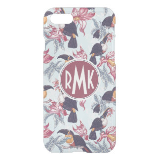 Toucans With Exotic Flowers | Monogram iPhone 8/7 Case