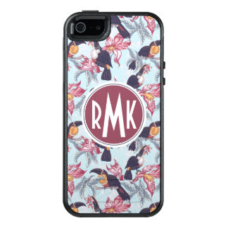 Toucans With Exotic Flowers | Monogram OtterBox iPhone 5/5s/SE Case