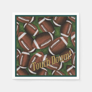 Touch Down Football Pattern Napkins Disposable Serviette