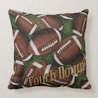 Touch Down Football Pattern Throw Pillow