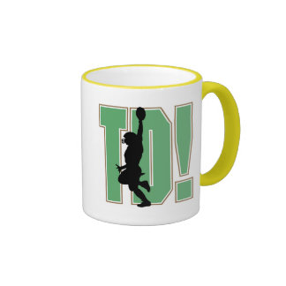 Touch Down Football T-shirts and Gifts Coffee Mugs
