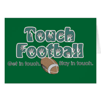 Touch Football Greeting Card