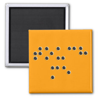 Touch Me (Braille) Square Magnet