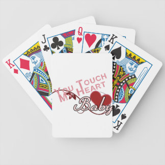Touch - miss a Shirt Design Bicycle Playing Cards