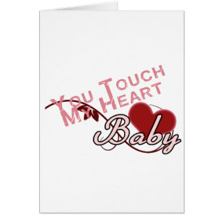Touch - miss a Shirt Design Greeting Cards