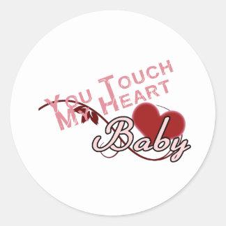 Touch - miss a Shirt Design Round Sticker