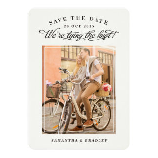 "Touch of Class photo save the date card 5"" X 7"" Invitation Card"