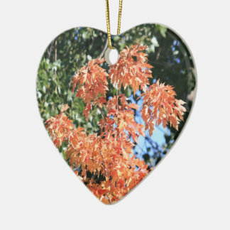 Touch of Fall Ceramic Heart Decoration