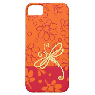 Touch Of Orange Dragonfly Art iPhone 5 Cover