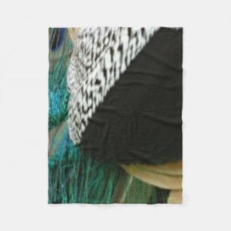 Touch Of Peacock Fleece Blanket
