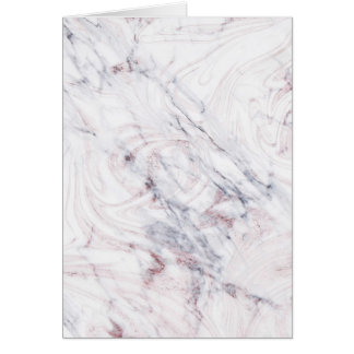 Touch of Rose White & Grey Marble Thank You Fold Card