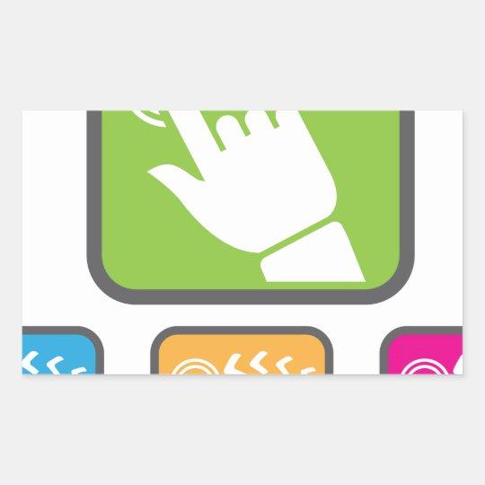 Touch Screen icon Rectangular Sticker