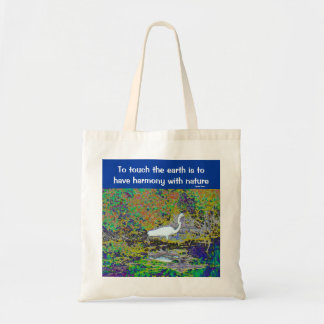 touch the earth budget tote bag