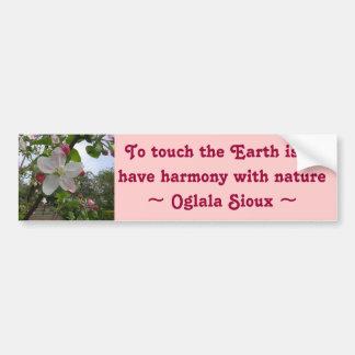 touch the Earth bumper sticker