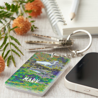 touch the earth Double-Sided rectangular acrylic key ring
