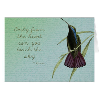 Touch the Sky Hummingbird Card