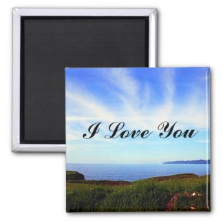 Touch The Sky Square Magnet