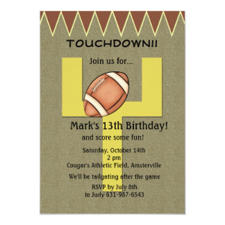 Touchdown Football Invitation