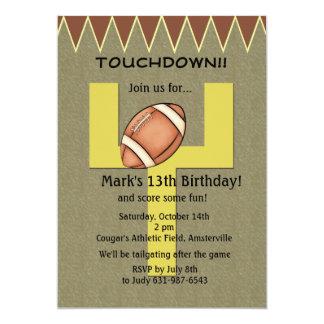 Touchdown Football Invitation