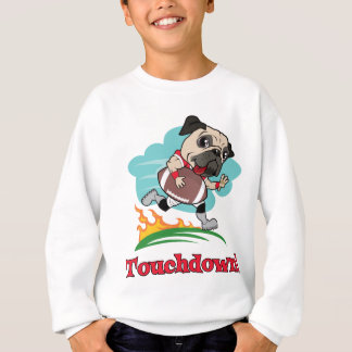 Touchdown Football Pug Tees and Gifts