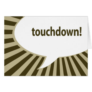 touchdown! (football / superbowl party) note card