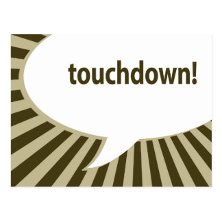 touchdown! (football / superbowl party) postcard